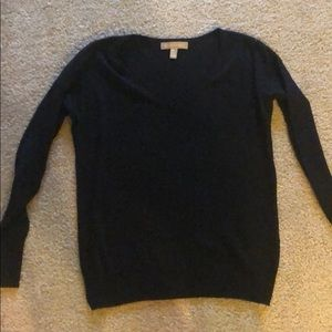 Banana Republic lightweight black sweater PXXS